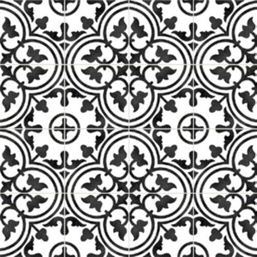 Gallery Encaustic Tile Clover BW