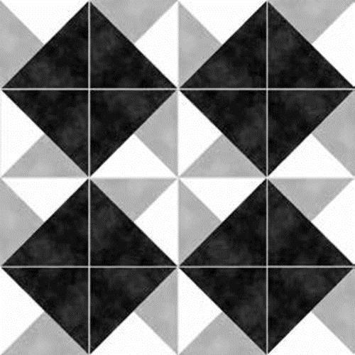Gallery Encaustic Tile Origami BW