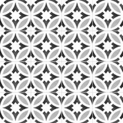 Gallery Encaustic Tile Star BW