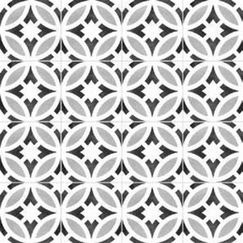 Gallery Encaustic Tile Star BW