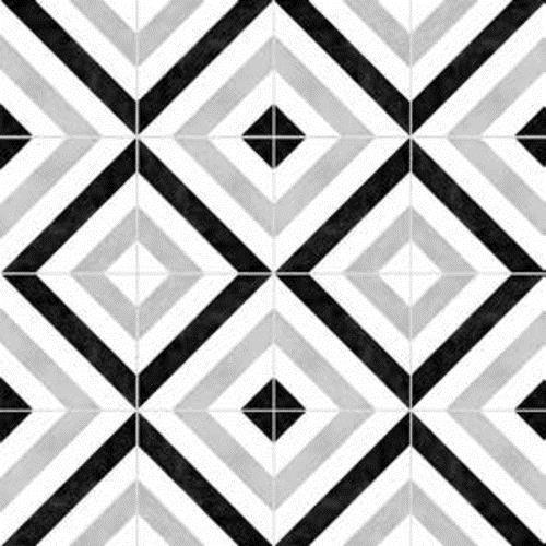 Gallery Encaustic Tile Stripes BW