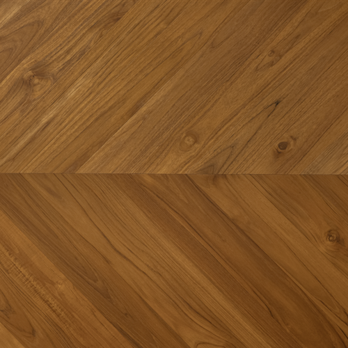 Solid Teak Chevron