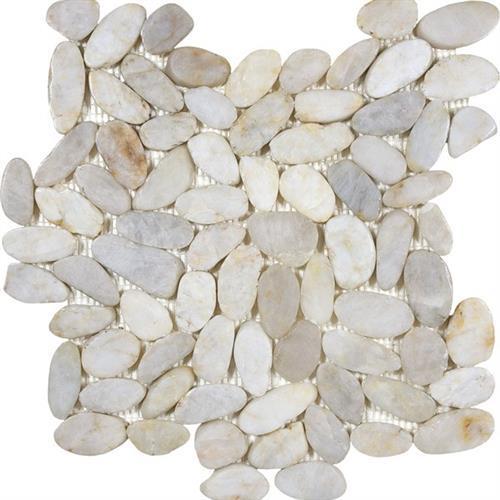 Pebble Mosaics Zen Fiji Cream 12X12 Mosaic Polished