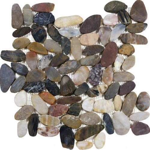 Pebble Mosaics Zen Bora Wilderness 12X12 Mosaic Polished