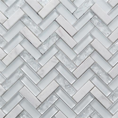 Chevron White 115X115
