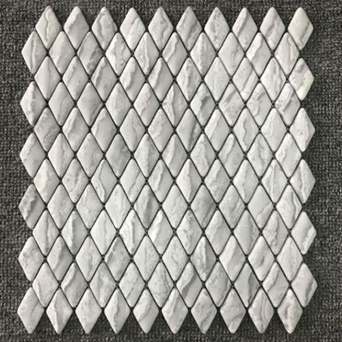 Shapes Tundra Grey 1X18 Diamond Mosaic Matte