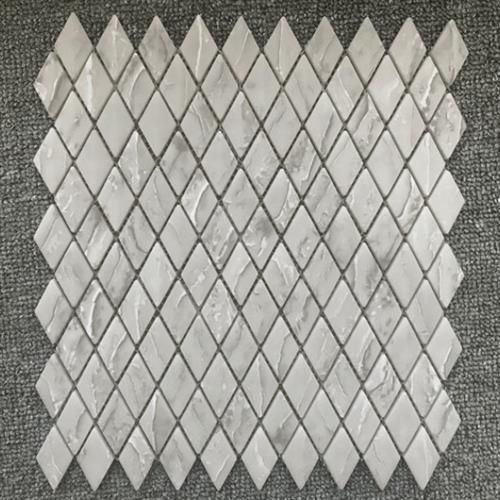 Shapes Taupe Travertine 1X18 Diamond Mosaic Matte