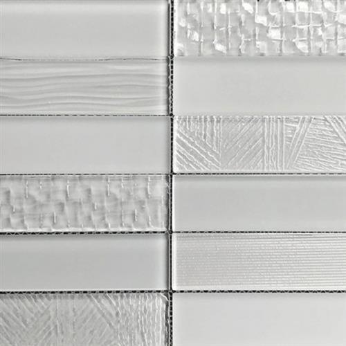 Glass Brix Rain 2X8 Stacked Mosaic