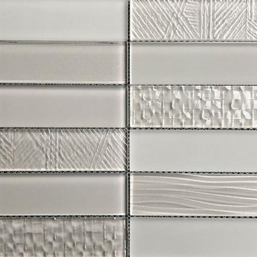 Glass Brix Taupe 2X8 Stacked Mosaic