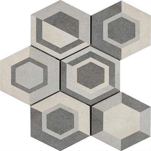 Cassini Geometric Cool 8X7 Hexagon Decor