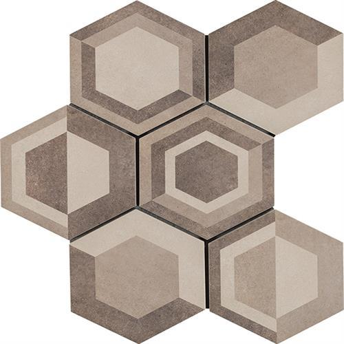 Cassini Geometric Warm 8X7 Hexagon Decor
