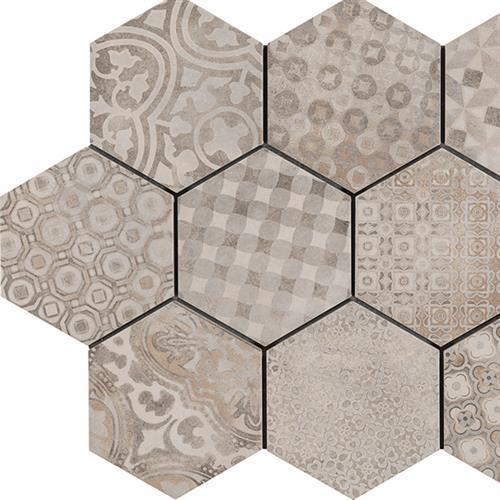"Cementine (8""x7"" Hexagon Decor)"