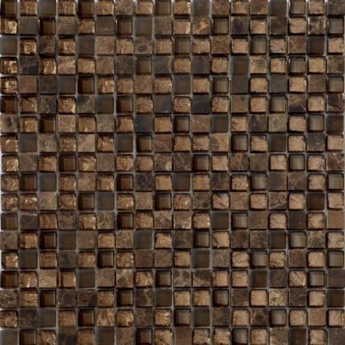 Glass Metro Bronze Chocolate Mix 5/8X5/8 Mosaic 12X12