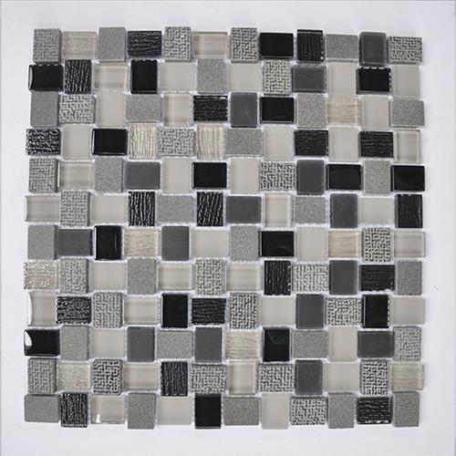 Glass Boutique Black 118X118 Marble Mosaic