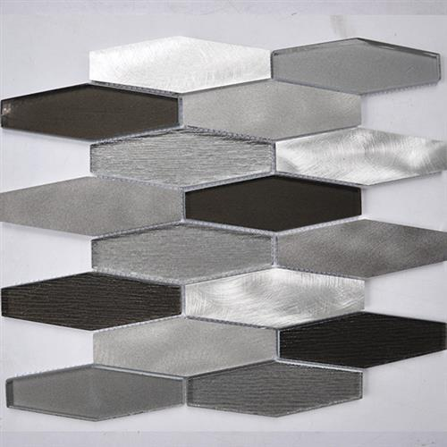 Glass Boutique Grey 1198X1228 Stainless Steel Hexagon