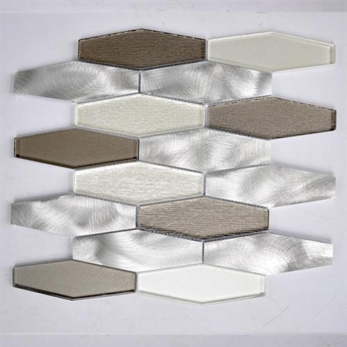 Glass Boutique White 1198X1228 Stainless Steel Hexagon
