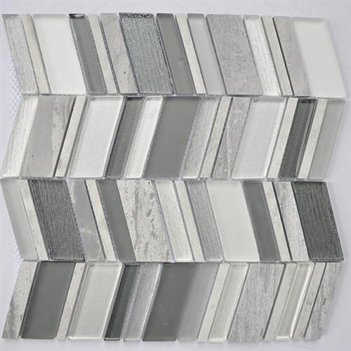 Glass Boutique Grey 116X118 Marble Chevron