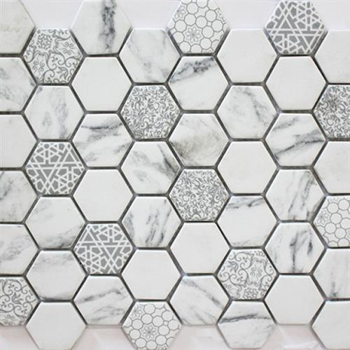 Six Cloud Grey Mix 12X12 Glass Tile