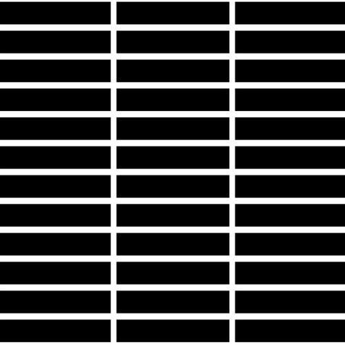 Monocolori Super Black 1 X 3 Mosaic Matte/Mat