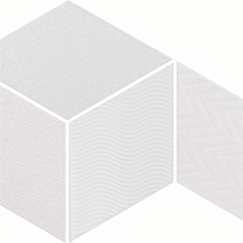 Rhombus White Mix 55X95 Porcelain Tile