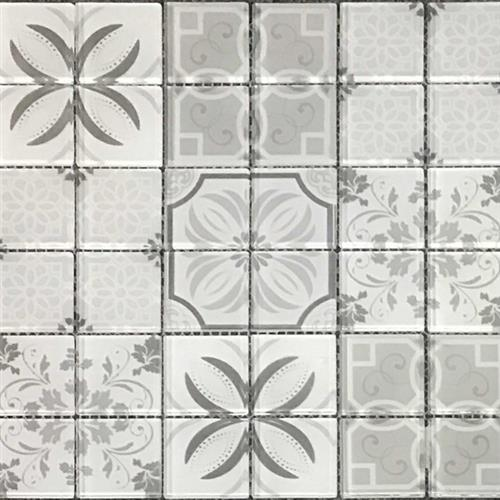 Dcor Glass Classic Grey 12X12 Mosaic Pressed