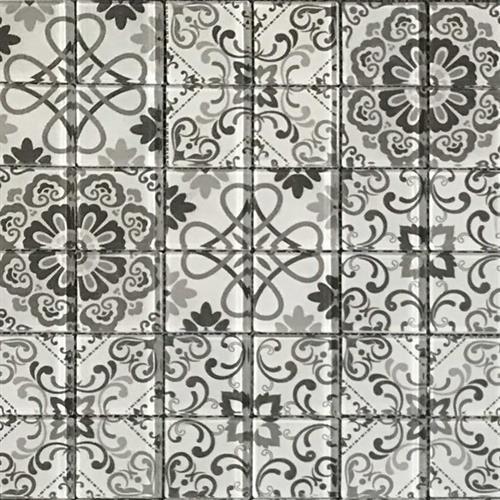 Dcor Glass Warm Grey 12X12 Mosaic Pressed