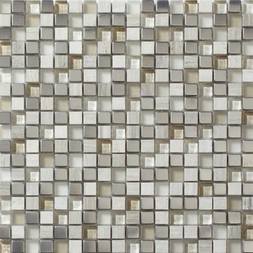 Glass Loft Titanium Clay Mix 5/8X5/8 Mosaic 12X12