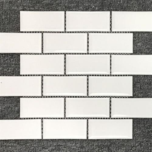 Waterfall White 2X4 Mini Brick Mosaic