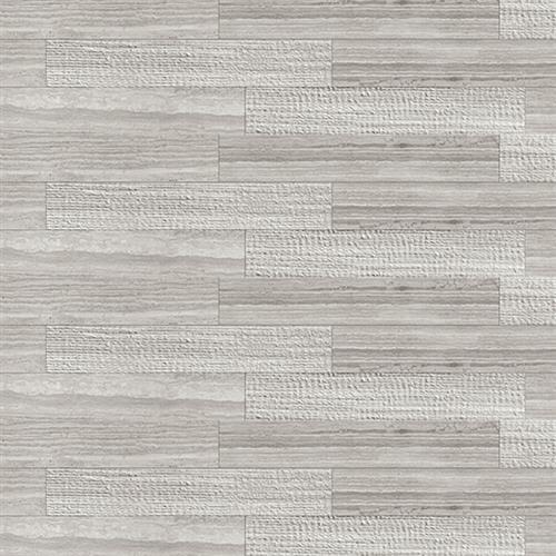 Marstood Silver Travertine 4X24 Mixed Decor
