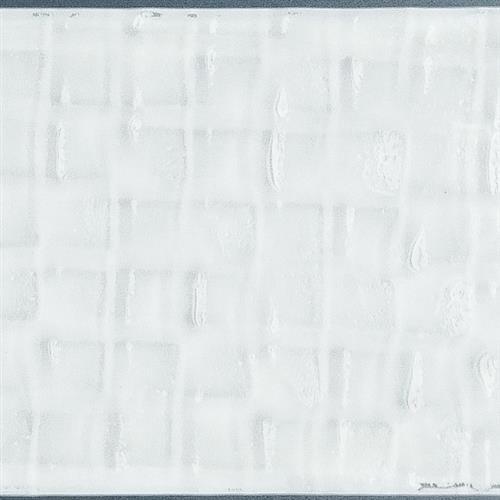 Glass Vogue Super White 3X12 3D Plaid Brick