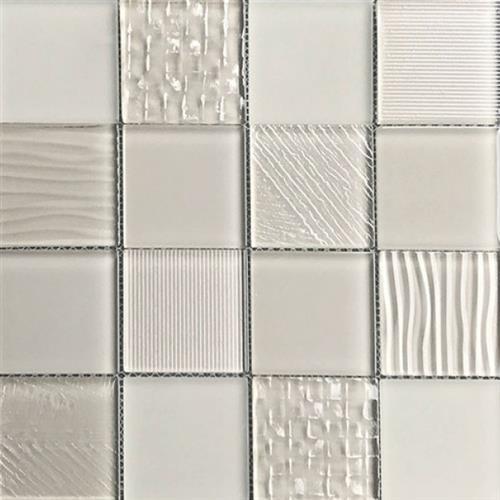 Glass Blox Taupe 3X3 Mosaic