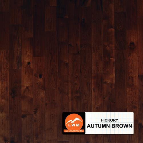 Hand Scraped Hickory - Solid Autumn Brown