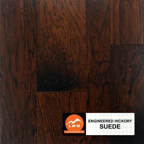 Hand Scraped Hickory - Engineered Suede - Random