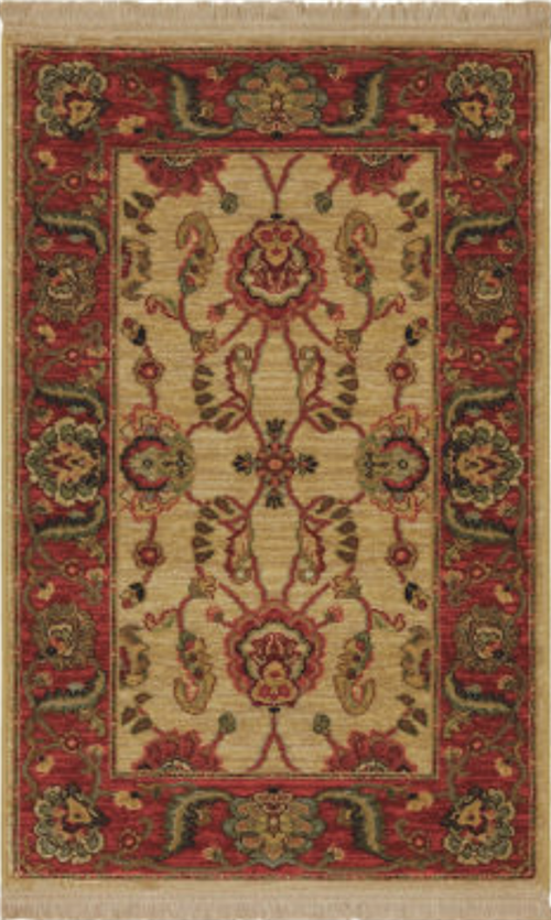 Agra Ivory Roll Runner