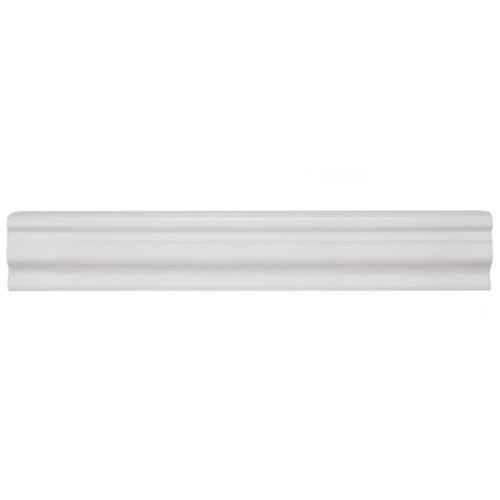 Chester Bianco 2 In X 12 In Chair Rail Ceramic Wall Trim Tile