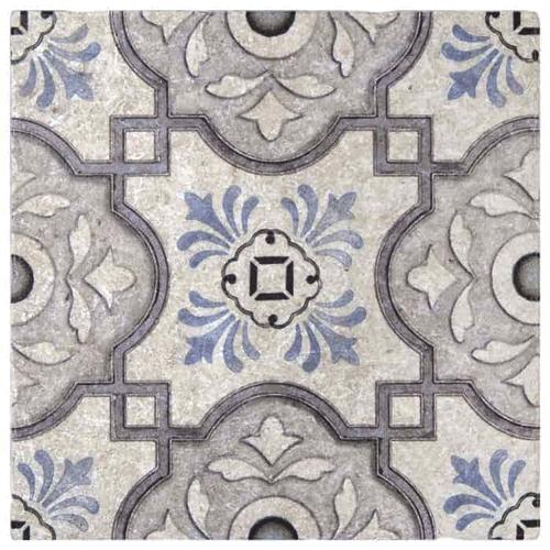 Davenport Pattern Shadow 12X12 - Perle Blanc
