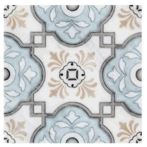 Davenport Pattern Azure 6X6 - Carrara