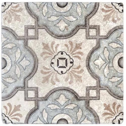 Davenport Pattern Azure 6X6 - Perle Blanc