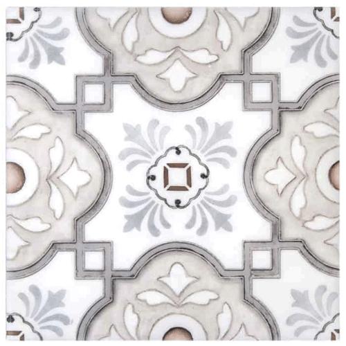 Davenport Pattern Peach-Clay 6X6 - Carrara