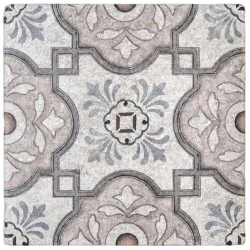 Davenport Pattern Peach-Clay 12X12 - Perle Blanc