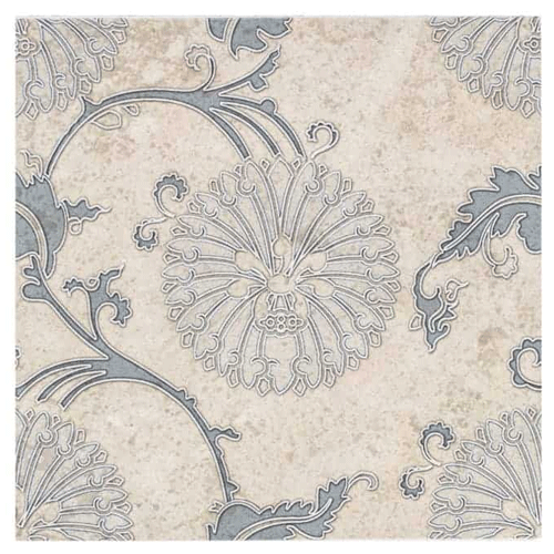 Eliana Pattern Dusty Blue 6X6 - Limestone