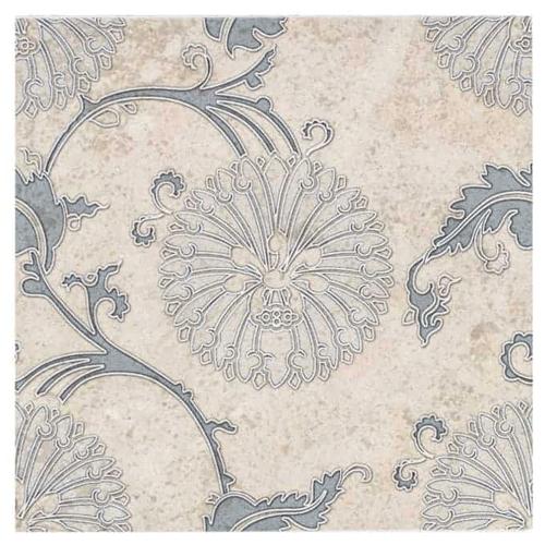 Eliana Pattern Dusty Blue 6X6 - Limestone
