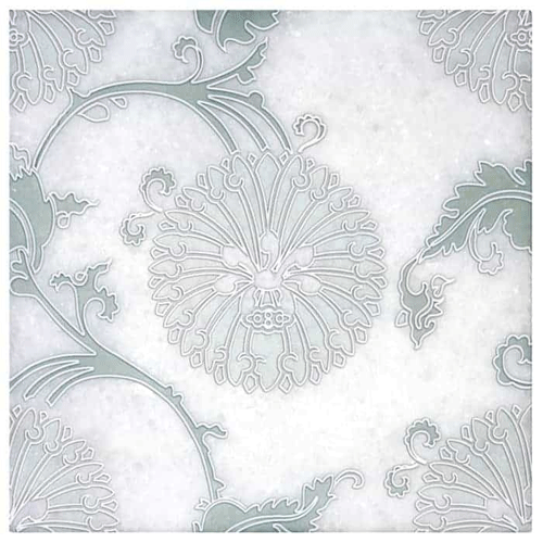 Eliana Pattern Green 6X6 - Arctic White