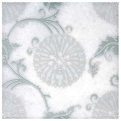Eliana Pattern Green 6X6 - Arctic White