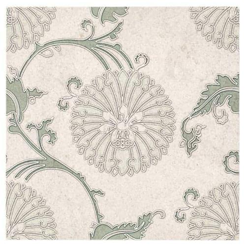 Eliana Pattern Green 6X6 - Limestone