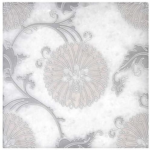 Eliana Pattern Pink-Grey 6X6 - Arctic White