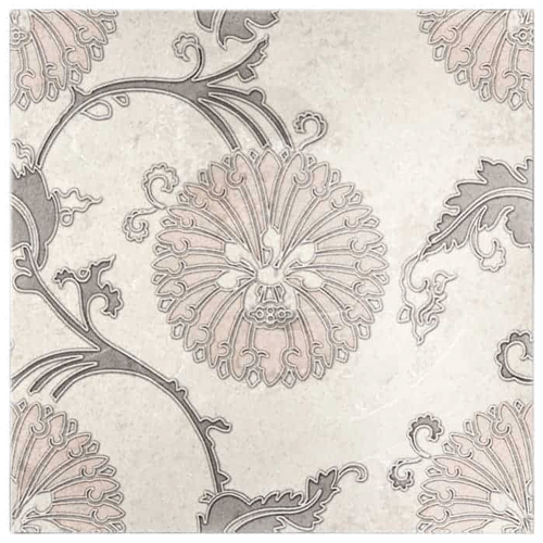 Eliana Pattern Pink-Grey 6X6 - Limestone
