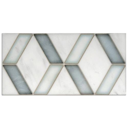 Duo Pattern Glacier Blue 6X12 - Carrara
