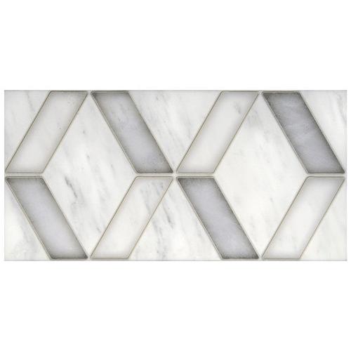 Duo Pattern Nickel 6X12 - Carrara