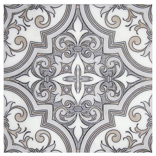 Ella Pattern Jute 12X12 - Carrara
